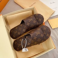 Louis Vuitton LV New Hot Sale Men's and Women's Printed Letters Home Casual Slippers