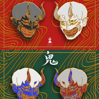 Oni enamel pins (Pre-order batch 2) by bwusagi