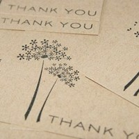 Thank You Floral Flat Note Cards Set of Eight