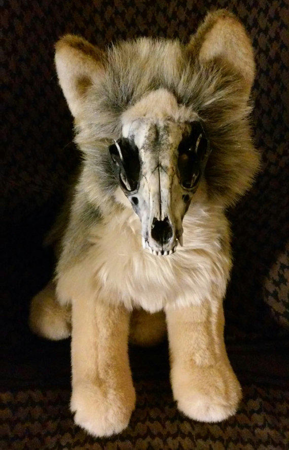 Adopt North The Coyote Skull Plushie From Roxxi1018 On Etsy