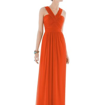 Alfred Sung by Dessy D678 Long Halter Bridesmaid Dress