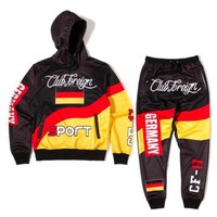 Club Foreign Sports Germany Three Color Hoodies And Sweatpants Suit Set - Beauty Ticks