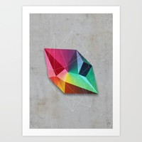 Mineral Geometry #1 Art Print by Cafelab