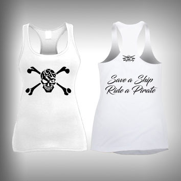 Ride a Pirate - Womens Tank Top