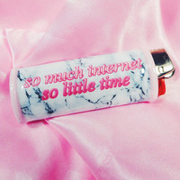 So Much Internet So Little Time Marble Bic Lighter Case