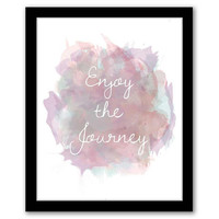 Enjoy The Journey, Watercolor, Orange Art, Wall Art, Home Decor, Quote Art Print, Inspirational Quote, Printable Art, INSTANT DOWNLOAD.