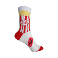 Popcorn Crew Socks in Red and White