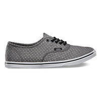 Chambray Dots Authentic Lo Pro | Shop Womens Shoes at Vans