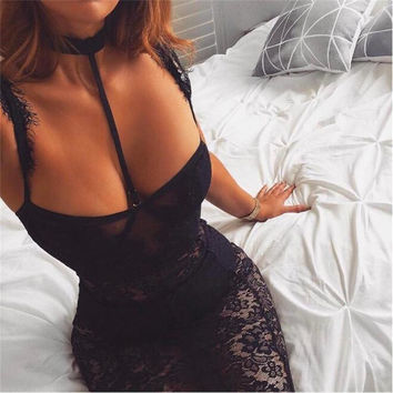 unique design tight party dress summer style 2017 new arrival black lace dress sleeveless above knee Club dressses