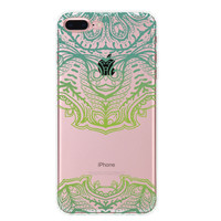 Mint Green Lace Floral iPhone 7 7Plus & iPhone se 5s 6 6 Plus Case Cover +Gift Box-88