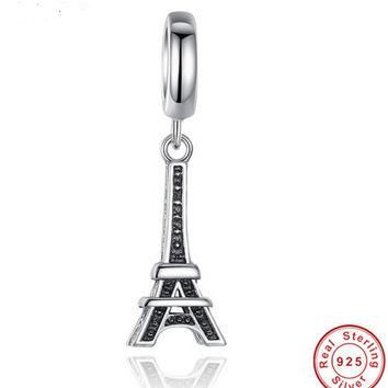 Authentic 925 Sterling Silver Paris Eiffel Tower Pendant Charm Fit Bracelet PANDORA