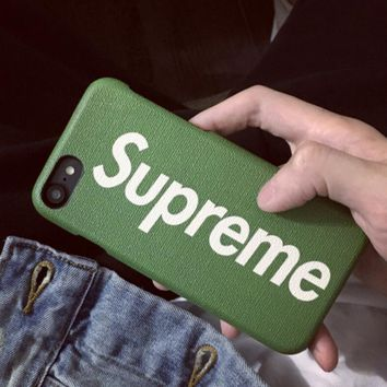 Supreme Stylish Cute Personality Letter Print iPhone Phone Cover Case For iphone 6 6s 6plus 6s-plus 7 7plus 8 Iphone X + Best Gift 5-Color Green