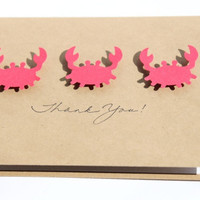 Crab Thank You Cards by RoyalRegards on Etsy