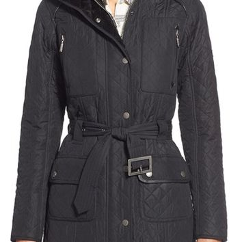 Barbour 'Katana' Quilted Parka with Faux Fur Trim | Nordstrom