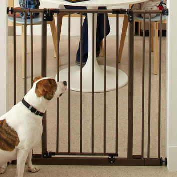 """North States Extra Tall Deluxe Easy-Close Pressure Mounted Pet Gate Brown 28"""" - 38.5"""" x 36"""""""
