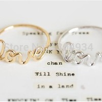 Jisensp 2018 New Fashion Hot Fashion Exquisite Alloy Love Letters Friendship Ring Women Simple Cute Love Ring Jewellery Feminino