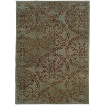 Oriental Weavers Nadira 1330L Blue/Brown Floral Area Rug