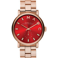 Marc by Marc Jacobs Women's Baker Rose Gold-Tone Stainless Steel Bracelet Watch 36mm MBM3344