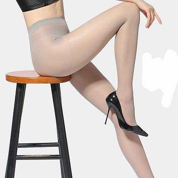 Fashion Sexy Women Smooth Ultrathin Elastic Black Stockings Lady Seamless Pantyhose Female Nylon Tights Breathable Hosiery