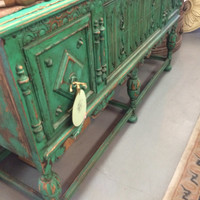 Antique Victorian Sideboard / Buffet - Boho Chic