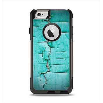 The Peeling Teal Paint Apple iPhone 6 Otterbox Commuter Case Skin Set