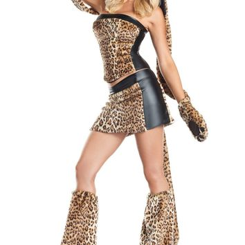 BW1291 6 Piece Lusty Leopard Costume - Be Wicked
