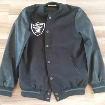 Custom Embroidered Raiders Shield Lined Jacket Special Edition