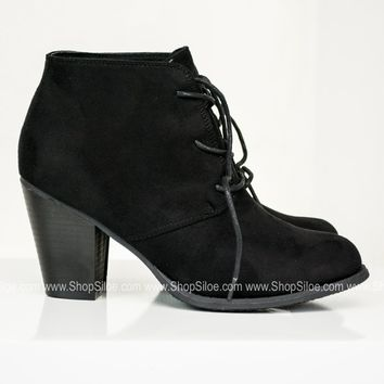 Denny Suede Booties | Black