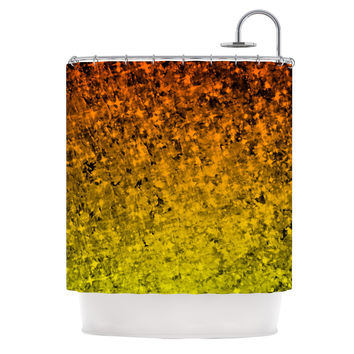 "Ebi Emporium ""Romance Me in Tangerine"" Gold Glitter Shower Curtain"