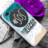5sos on Sand and Water iPhone case cover, iPhone 4/4s/5/5s/5c case, Samsung Galaxy S3/S4 case, iPod 4/5 case