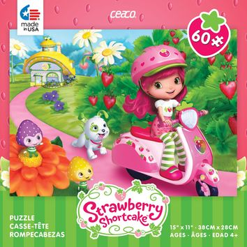 Ceaco Strawberry Shortcake On Her Vespa 60 Piece Jigsaw Puzzle