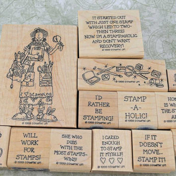 """Stampin Up Rubber Stamps, VERY Hard To Find, 1999 Near Mint, """"Stampin' Stella"""", Scrapbooking, Cardmaking, ATCs, Altered Art"""