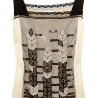 Philosophy di Alberta Ferretti Embellished silk top - 65% Off Now at THE OUTNET