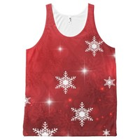 Winter Red All-Over Print Tank Top