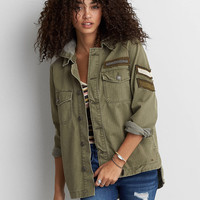 AEO Patched Utility Jacket, Olive