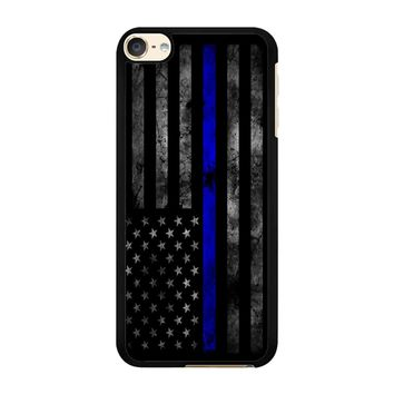 American Police Officer The Thin Blue Line iPod Touch 6 Case