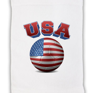 "Soccer Ball Flag - USA Micro Terry Sport Towel 11""x18"