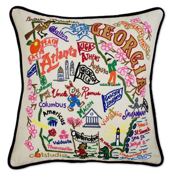 Georgia Hand Embroidered Pillow
