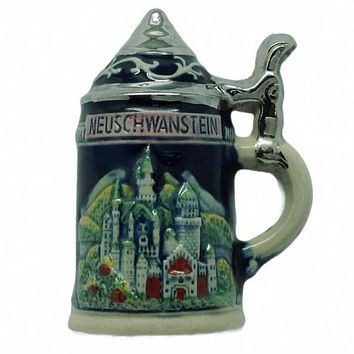 German Party Favor Stein Magnet Ludwig Castle