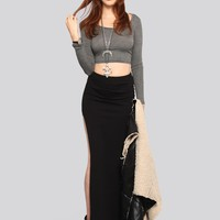 Hidden Agenda Maxi Skirt - Black - Clothes | GYPSY WARRIOR
