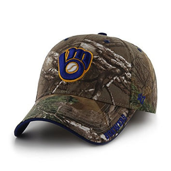 MLB Milwaukee Brewers Frost MVP Adjustable Hat, One Size, Realtree Camouflage