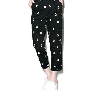 Lazy Oaf Skull Trousers Black