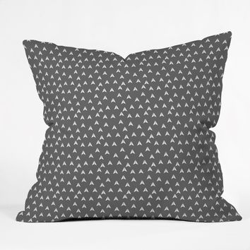 Gabi In Flight Gray Throw Pillow