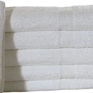 "12 Pack white Economy Bath Towel (24""x 48"") Ring-spun Cotton for Maximum Softness (12)"