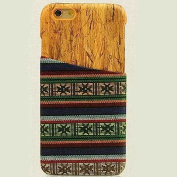 Floral Ethnic Style iPhone 6 6s Plus Case Handmade Cloth Cover Gift-172-170928