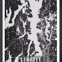 Seattle Washington Map with Coordinates