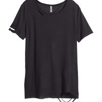 H&M - Jersey Top - Black - Ladies