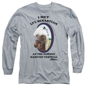 Parks And Rec - Lil Sebastian Long Sleeve Adult 18/1 Officially Licensed Shirt