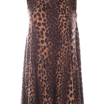 Judith March Leopard Print Easy Fitting Dress