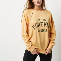 Coral nibbled print sweatshirt - hoodies / sweatshirts - t shirts / vests - tops - women